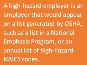 high hazard employer - blog