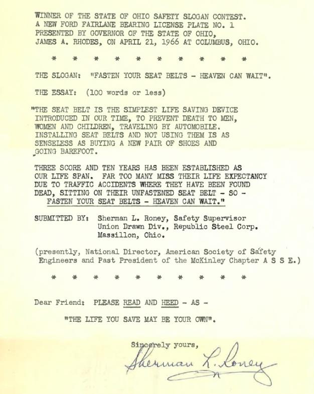 safety letter